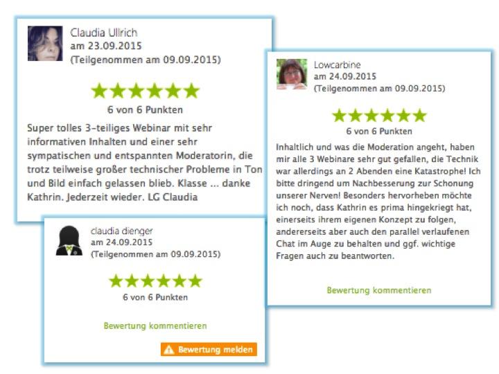 Ran ans fett Webinare Bewertungen