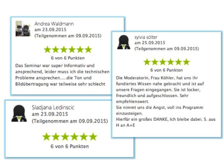 RAN ANS FETT Webinare Bewertungen 2