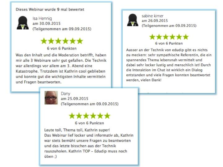 RAN ANS FETT Webinare Bewertungen 3